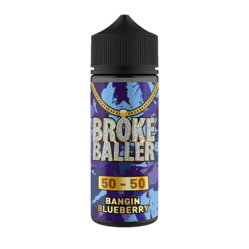 BANGIN BLUEBERRY E LIQUID BY BROKE BALLER 100ML 50VG