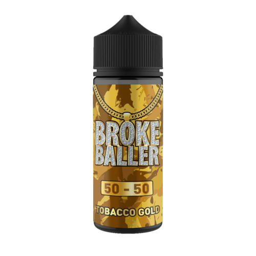 TOBACCO GOLD E LIQUID BY BROKE BALLER 100ML 50VG
