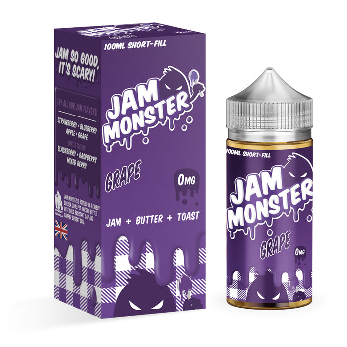 GRAPE E LIQUID BY JAM MONSTER 100ML 75VG