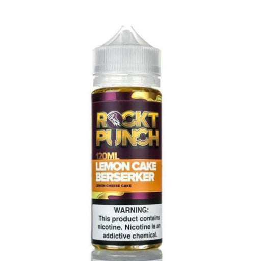 LEMON CAKE BERSERKER E LIQUID BY OKVMI - ROCKT PUNCH 100ML 70VG