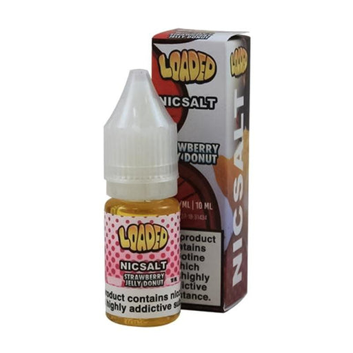 STRAWBERRY JELLY DONUT NICOTINE SALT E-LIQUID BY LOADED NICSALT - Eliquids Outlet