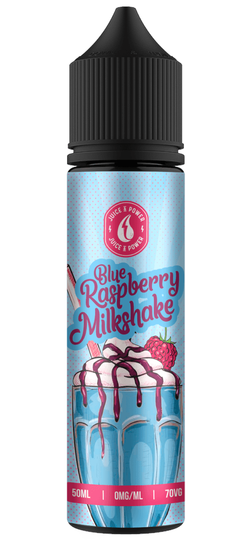 BLUE RASPBERRY MILKSHAKE E LIQUID BY JUICE 'N' POWER 50ML 70VG