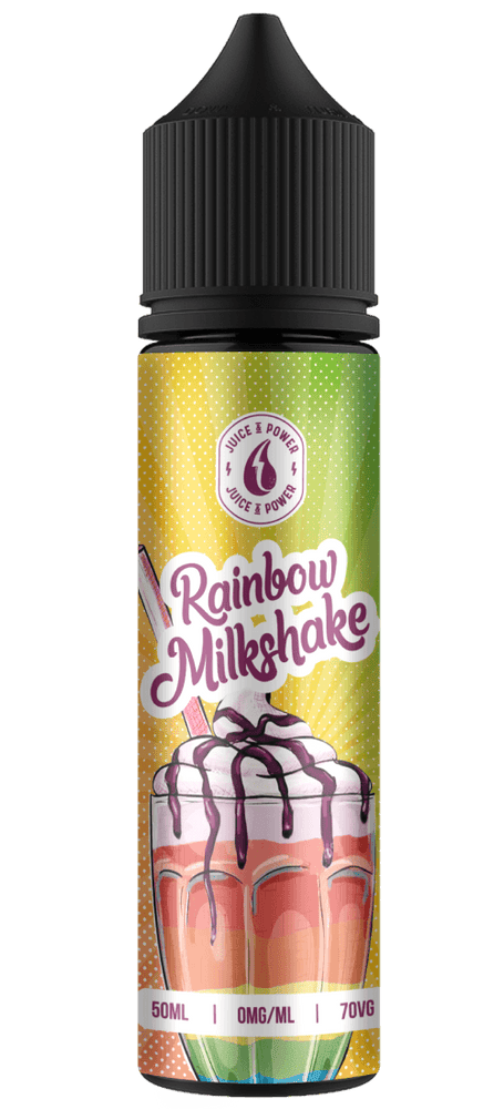 RAINBOW MILKSHAKE E LIQUID BY JUICE 'N' POWER 50ML 70VG