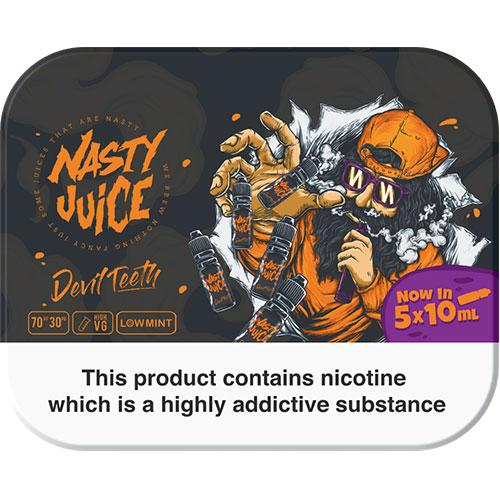 DEVIL TEETH E LIQUID BY NASTY JUICE - TDP MULTIPACK 5 X 10ML 70VG - Eliquids Outlet