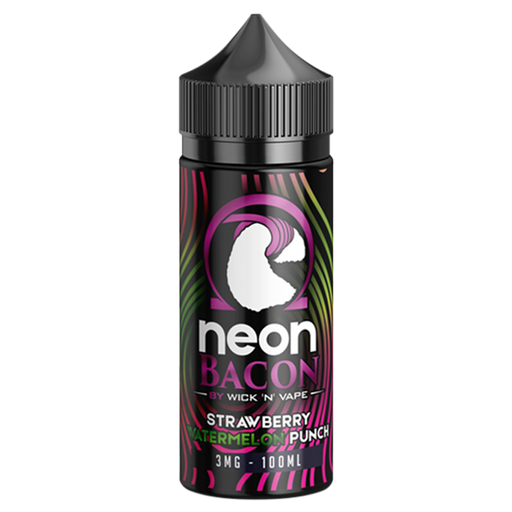 PUNCH'D STRAWBERRY WATERMELON PUNCH E LIQUID BY NEON BACON 100ML 70VG