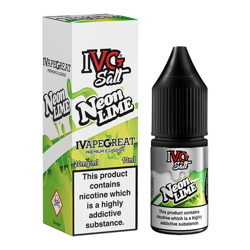 NEON LIME NICOTINE SALT E-LIQUID BY I VG SALT - Eliquids Outlet