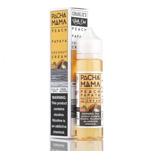 PEACH, PAPAYA & COCNUT CREAM E LIQUID BY PACHA MAMA 50ML 70VG