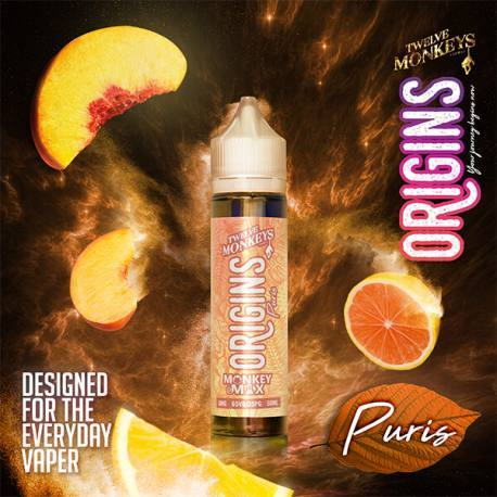 PURIS ORIGINS E LIQUID BY 12 MONKEYS 50ML 65VG