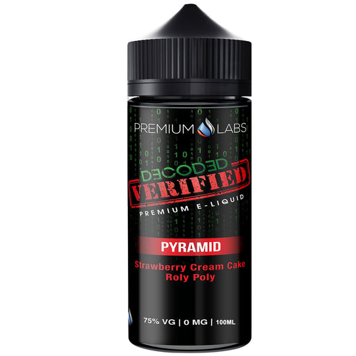 PYRAMID E LIQUID BY DECODED VERIFIED - PREMIUM LABS 100ML 75VG - Eliquids Outlet