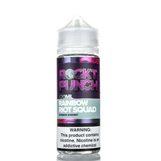 RAINBOW RIOT SQUAD E LIQUID BY OKVMI - ROCKT PUNCH 100ML 70VG