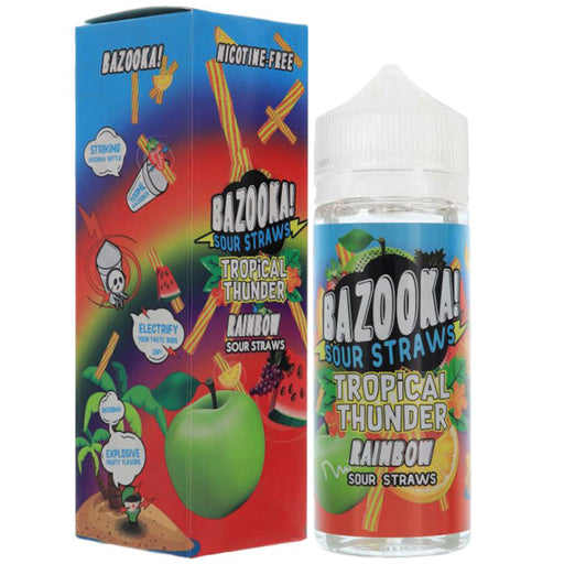 RAINBOW TROPICAL THUNDER E-LIQUID BY BAZOOKA 100ML 70VG