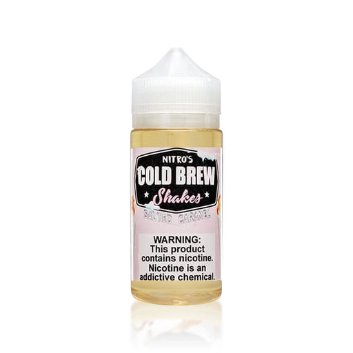 SALTED CARAMEL E LIQUID BY NITROS COLD BREW SHAKES 100ML 70VG