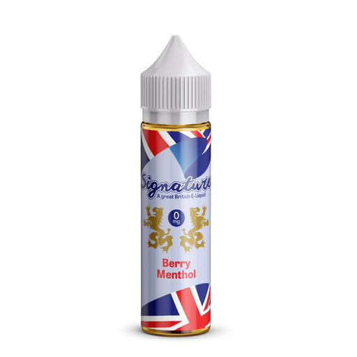 BERRY MENTHOL E LIQUID BY SIGNATURE 50ML 50VG - Eliquids Outlet