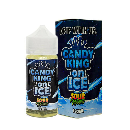 SOUR WORMS ON ICE E LIQUID BY CANDY KING 100ML 70VG