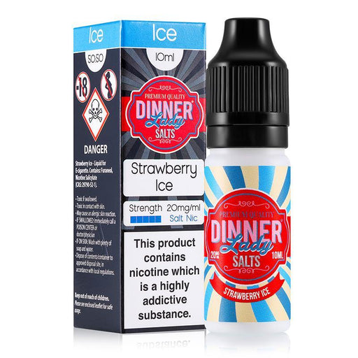 STRAWBERRY ICE NICOTINE SALT E-LIQUID BY DINNER LADY SALTS - Eliquids Outlet