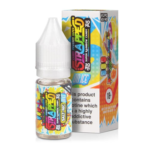 SUPER RAINBOW CANDY ON ICE NICOTINE SALT E-LIQUID BY STRAPPED - Eliquids Outlet