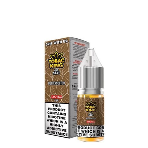 BUTTERSCOTCH NICOTINE SALT E-LIQUID BY TOBAC KING ON SALT - Eliquids Outlet