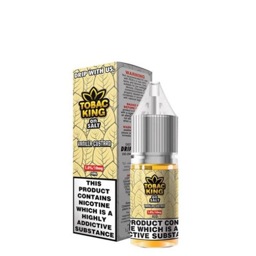VANILLA CUSTARD NICOTINE SALT E-LIQUID BY TOBAC KING ON SALT - Eliquids Outlet
