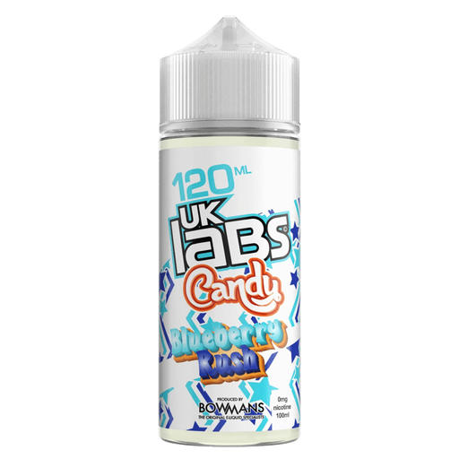 BLUEBERRY RUSH E LIQUID BY UK LABS - CANDY 100ML 70VG