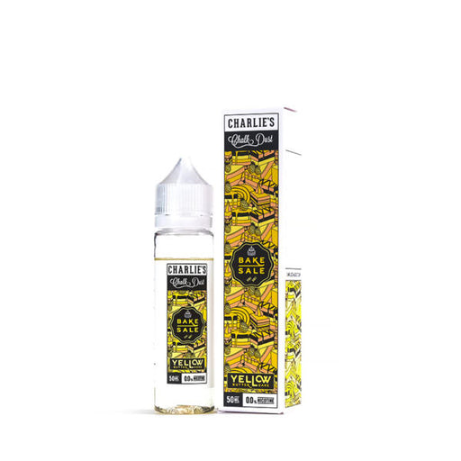 YELLOW BUTTER CAKE E-LIQUID BY CHARLIE'S CHALK DUST - BAKE SALE  50ML 70VG
