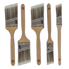 5pk Pro Grade Premium Wall Trim House Paint Brush Set Great For Professional Painter And Home Owners Painting Brushes For Cabinet Decks Fences