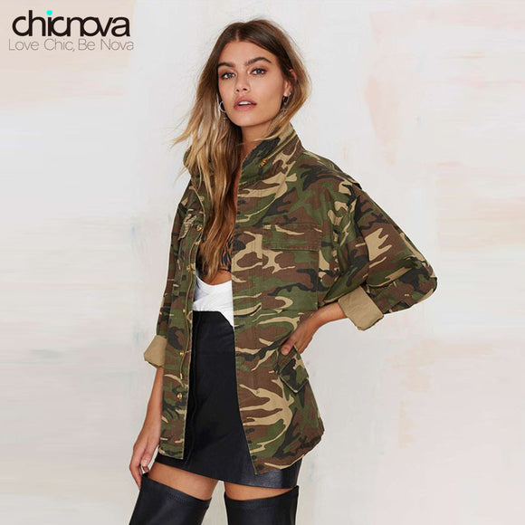 Camo Denim Jacket Zipper