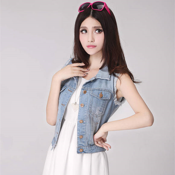 Denim Vest Sleeveless Jacket