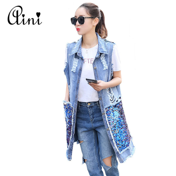 Denim Vest Jeans Jacket