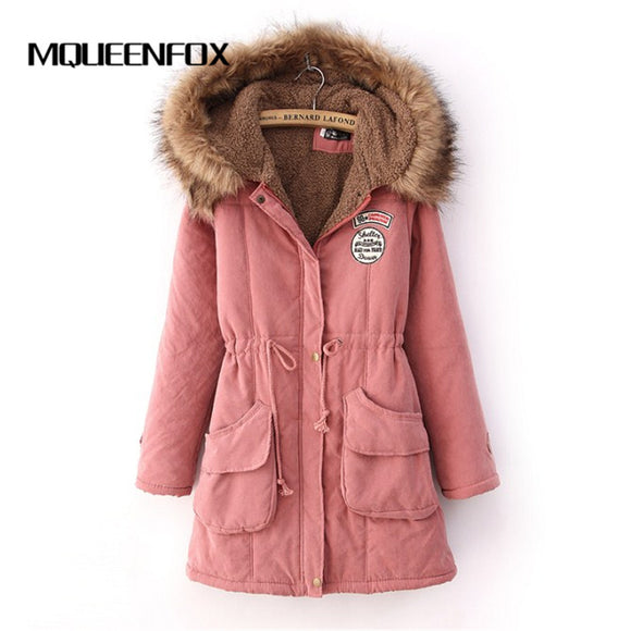 Fur Coat hooded Parka