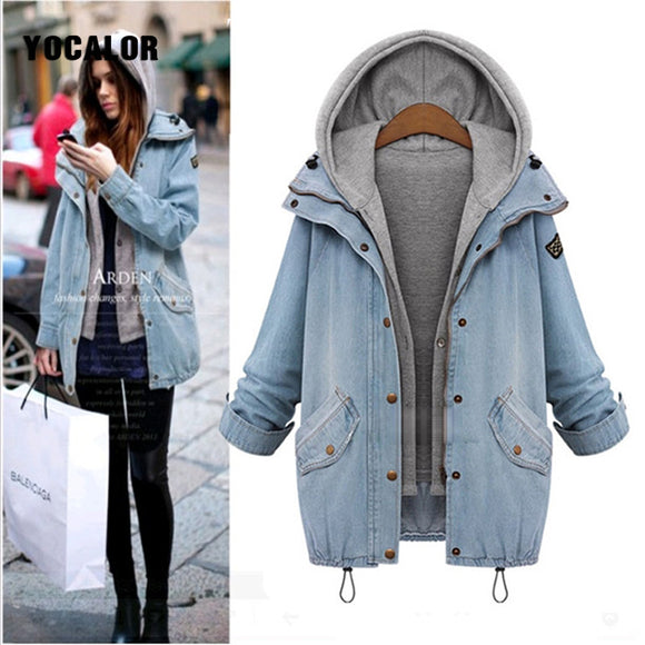 Two Piece Denim Veste Jacket