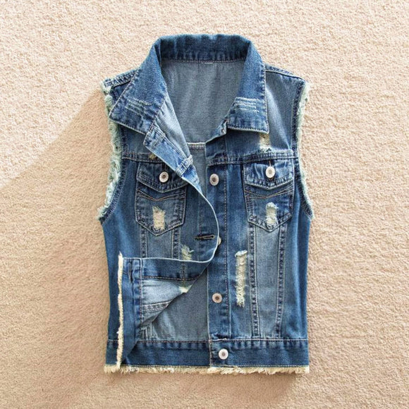 Denim Vest Blazer Coat
