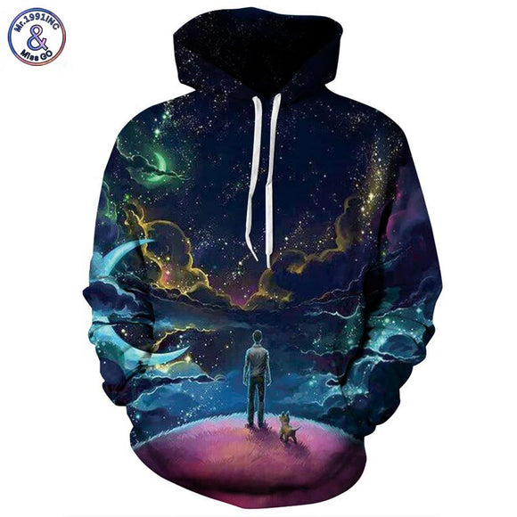 Colorful Clouds Sky Hoodies Men/Women 3d