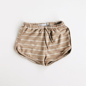 Birch Stripe Track Shorts
