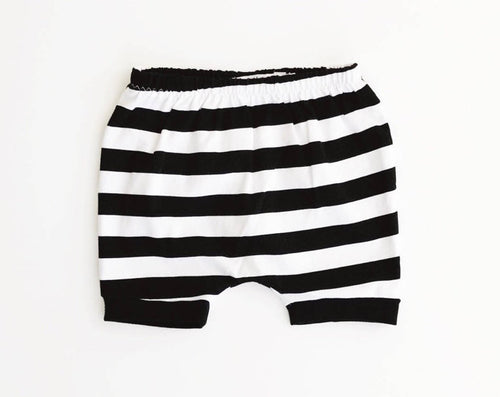monochrome stripe SHORTIES