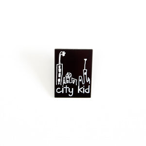 city kid enamel pin