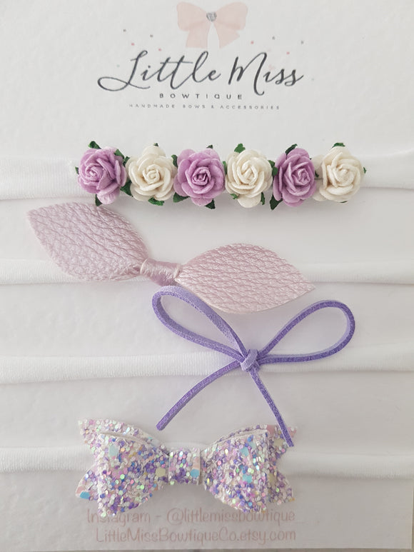 Newborn Flower Gift Packs - 5 colours