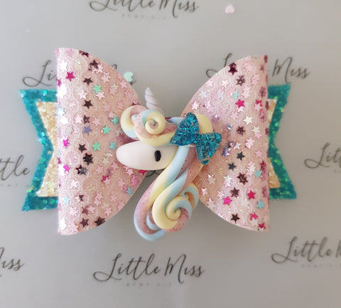 Unicorn Swirls Bow