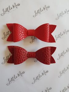 Red Leatherette Bows