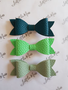 Green Palette Leatherette Bows