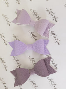 Purple Palette Leatherette Bows