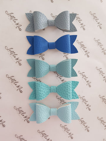 Blue Palette Leatherette Bows