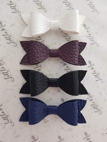 Everyday Leatherette Bows
