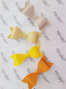 Yellow Palette Leatherette Bows