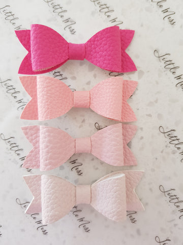 Pink Palette Leatherette Bows