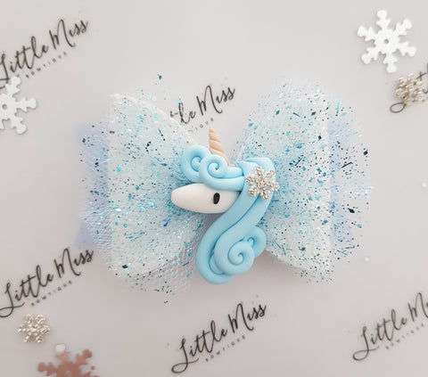 Winter Wonderland Unicorn Bow