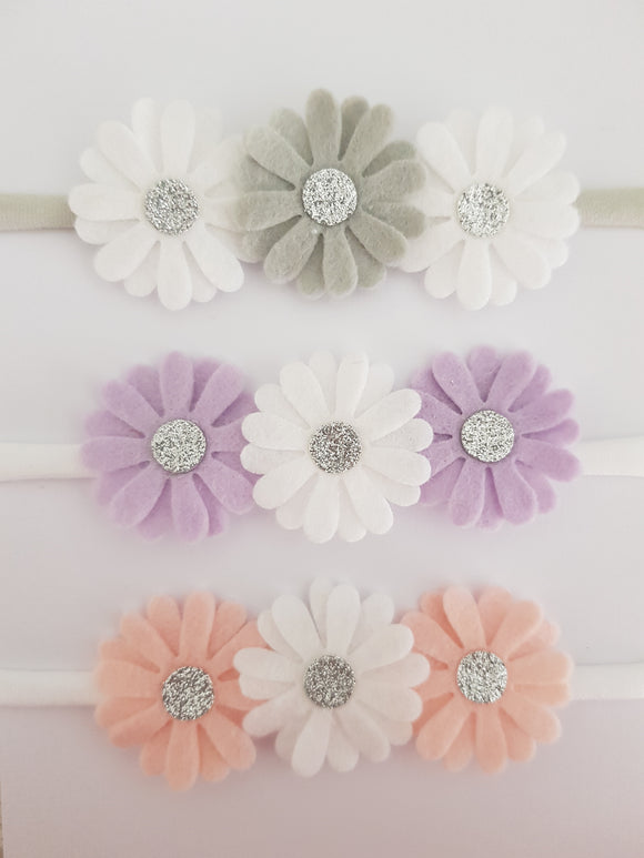 Daisy Felt Headbands 2