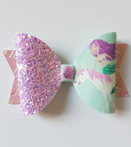 Mermaid Unicorn Bow