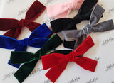 Velvet Ribbon Bows - Multiple Colours