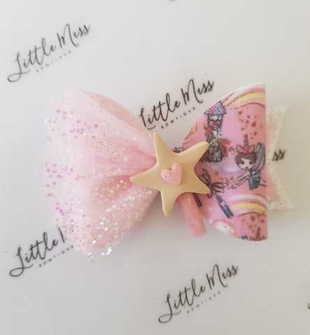 Pink Wishes Fairy Bow