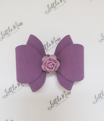 Bursting Grape Audrey Bow
